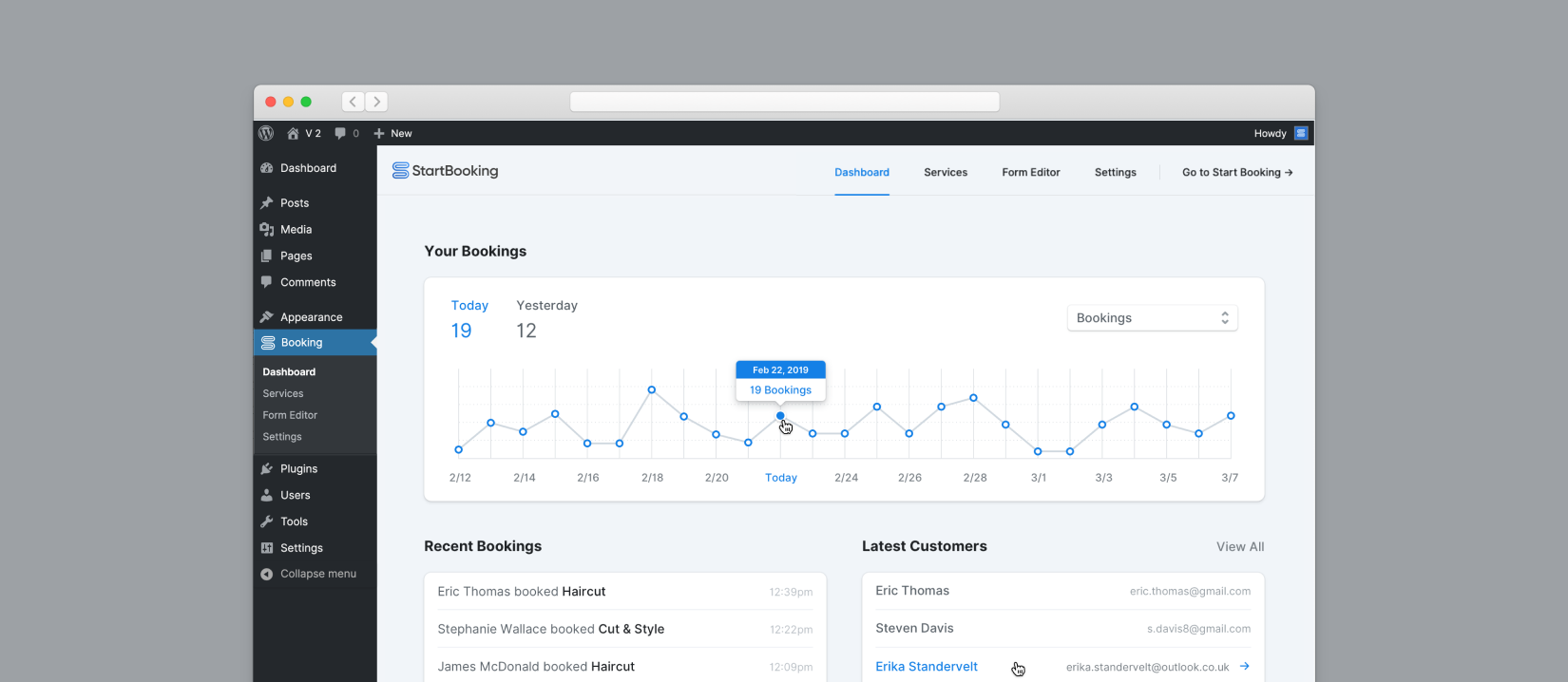 The team here at Start Booking has been heads down for the last 3 months giving our WordPress booking plugin a major update that we think you are going to love! The previous version (1.x) was a good learning lesson for us. With this new release we have assembled your feedback and paired it with […]