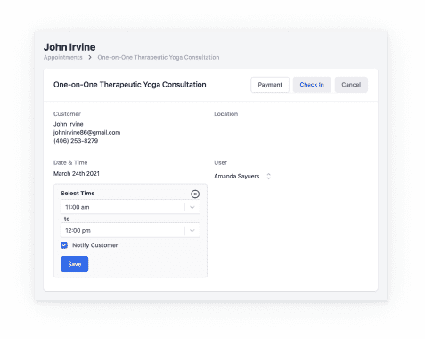 Send automated reminders to avoid no-shows